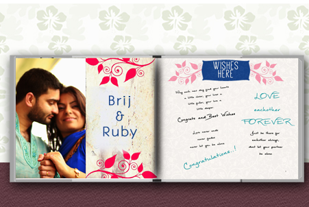 Tell your story and record the wishes of your family and friends in your personalised Wedding Guest book.