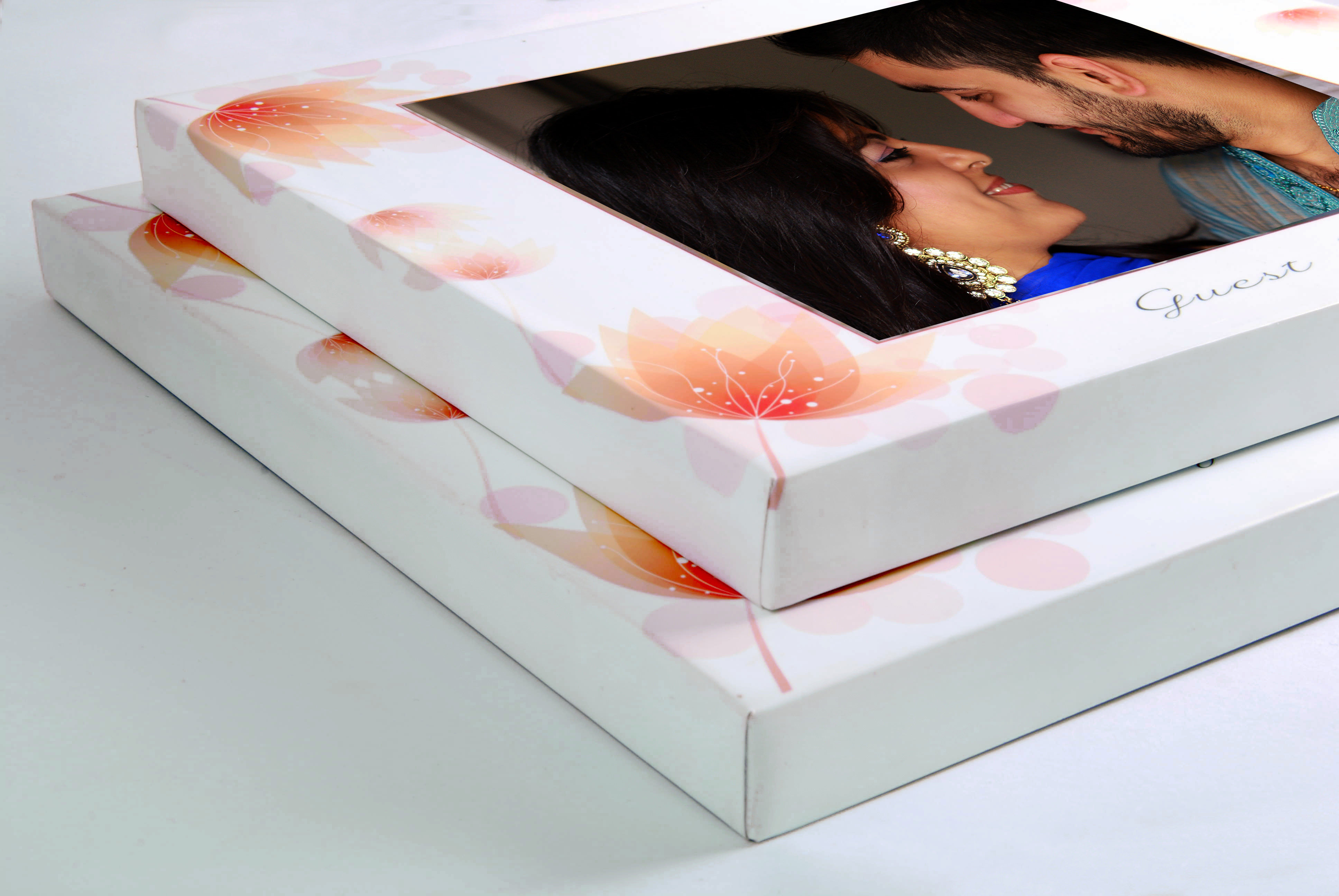 Matching personalised box for your photo Wedding Guest Book