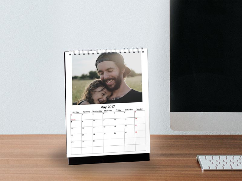 Personalized Desk Calendars on Father's Day