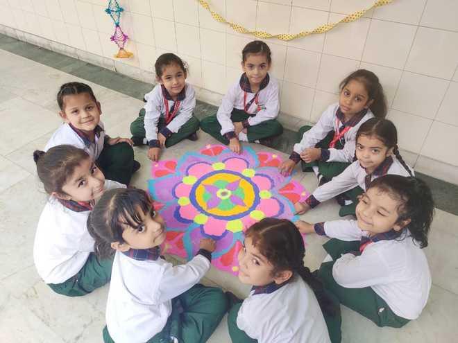 School Diwali Rangoli