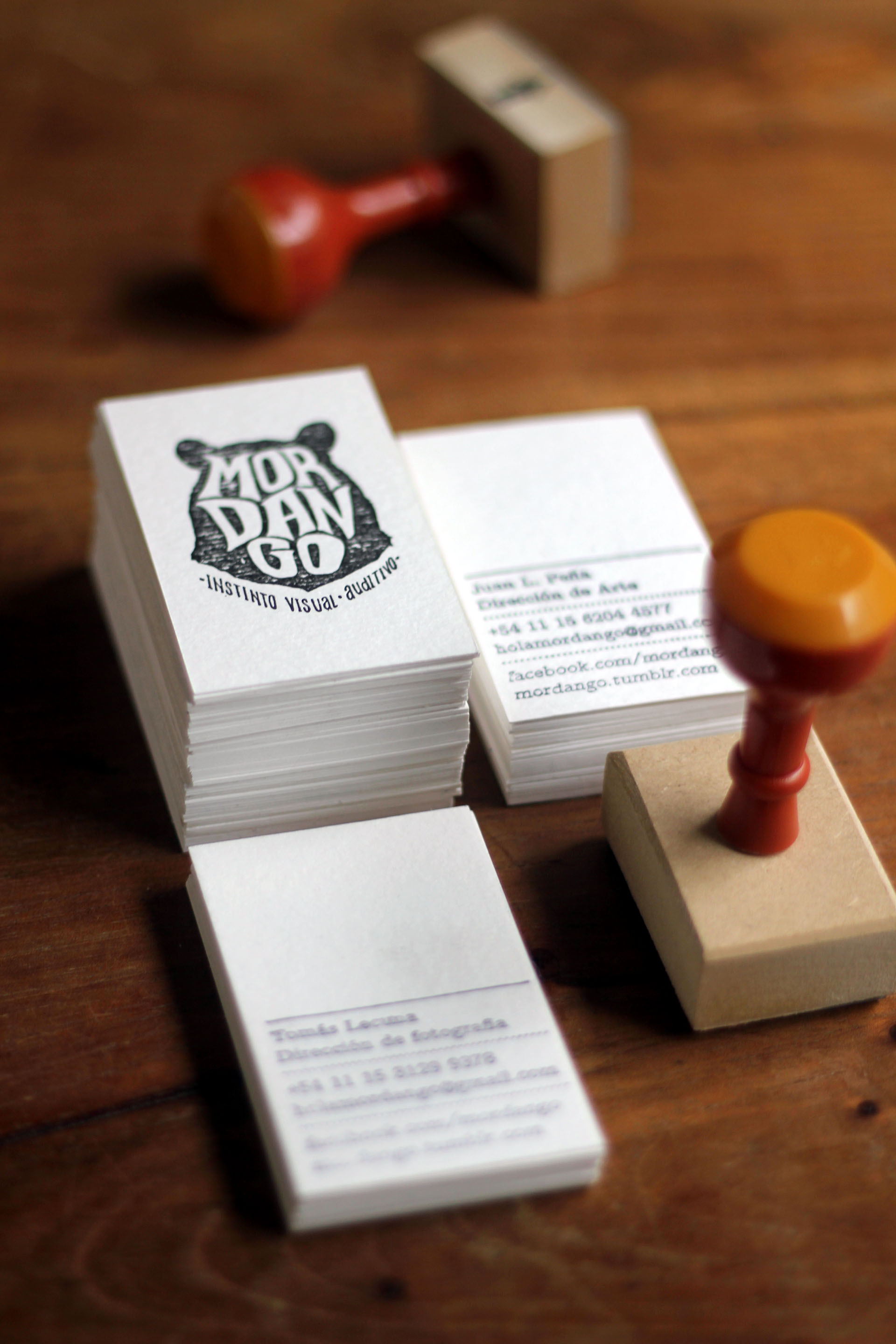 business card design tips - stamp it