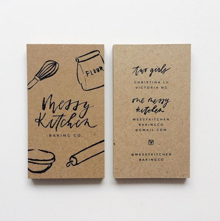 business card design tips - go simple