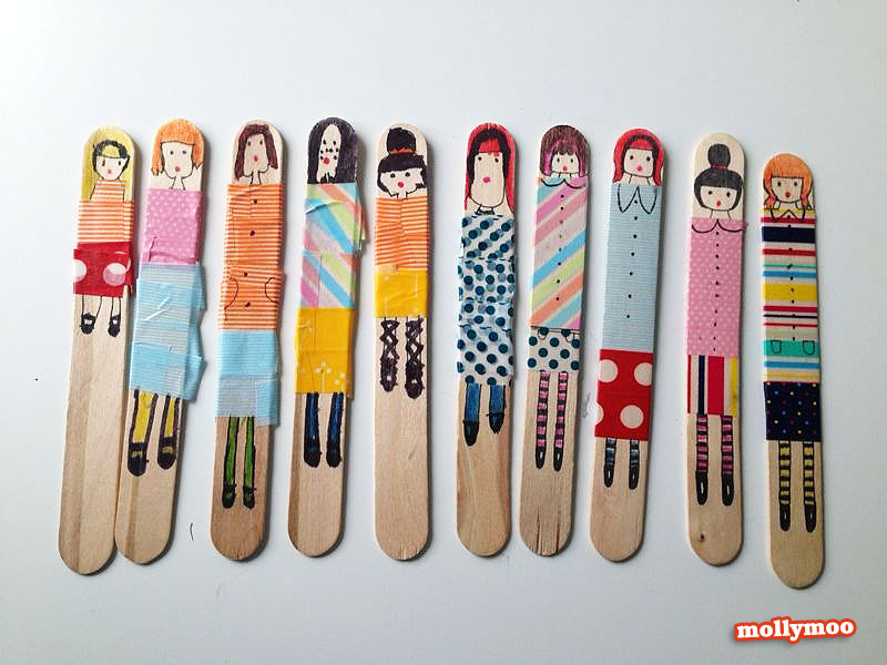 easy art and craft ideas for kids popsicle stick dolls