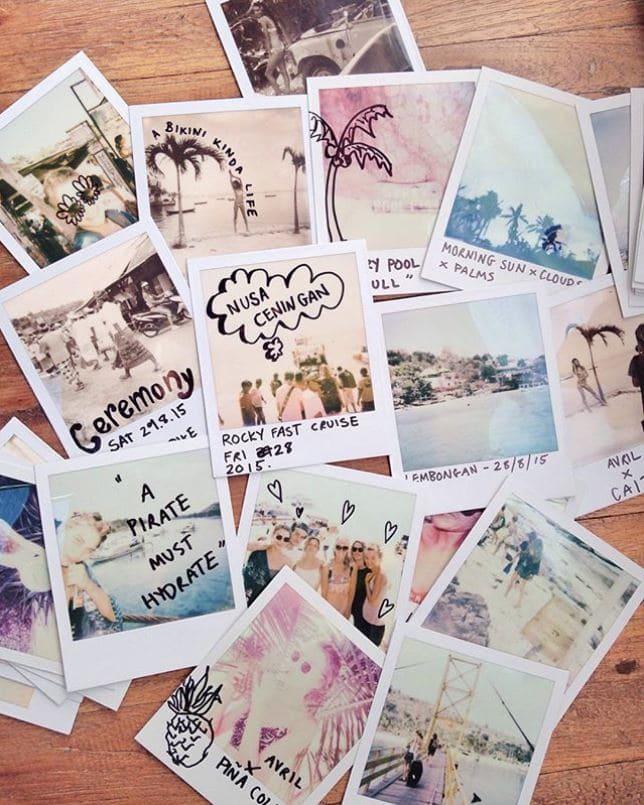Diary full of retro prints