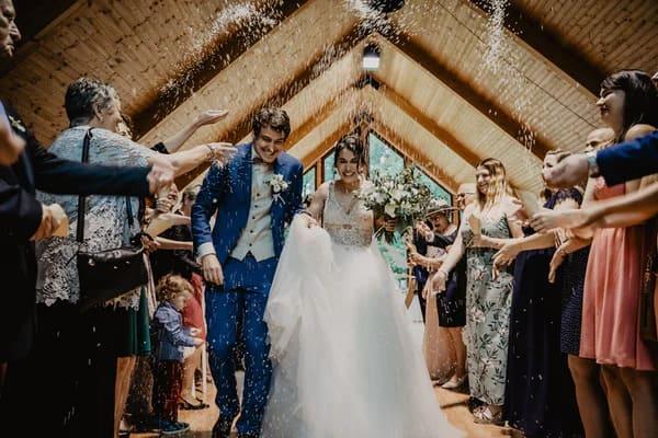 Wedding reception entry