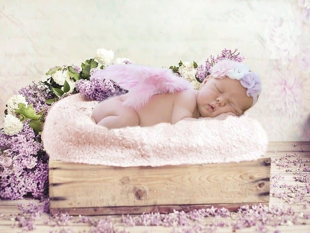 Baby image while asleep