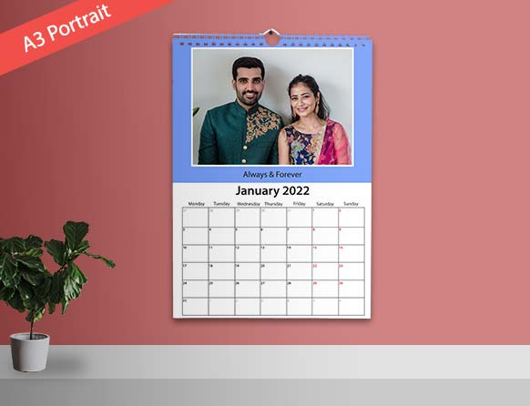different sizes of wall photo calendars